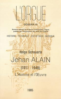 (couverture de Numéro spécial: Jehan Alain (1911-1940) – L'homme et l'œuvre)