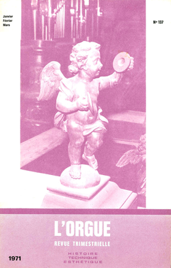 (couverture de Jean Crinon, facteur d'orgues au XVIe siècle —  Les orgues de l'église Saint-Eusèbe à Arnhem — Le grand orgue de Notre-Dame de Saint-Lô — Les orgues anciennes de Tournon-sur-Rhône (II))