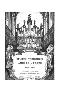 (couverture de 1929-1933. La vie de l'orgue en France)