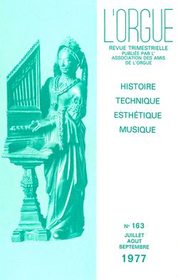 (couverture de L'orgue de l'église Saint-Nicolas du Pouliguen — Restauration de l'orgue d'Allevard-les-Bains — Notes sur les orgues de la cathédrale de Burgos — Règles de registration au temps et au pays de Bach)