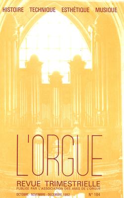 (couverture de Marie-Claire Alain et ses Intégrales de Bach — Vieux papiers, vieux instruments: mode, facture d'orgues et snobisme — Le grand orgue de la cathédrale de Perpignan)