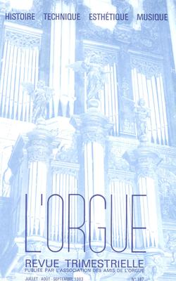 (couverture de Jean-Jacques Grunenwald — André Marchal, interprète inspiré de César Franck — André Fleury, ambassadeur de la musique d'orgue française en Allemagne)
