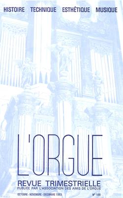 (couverture de La symbolique des nombres chez Bach — L'orgue vu par un ecclésiaste au début du XVIIIe siècle)
