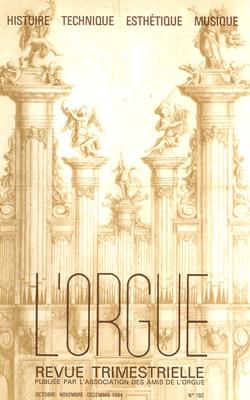 (couverture de Ernest Martin Skinner et la France — L'orgue historique de Mitry-Mory — L'orgue de l'abbaye de Lucerne — Le grand orgue de Notre-Dame de Pau — Notes sur l'orgue de Courtenay)