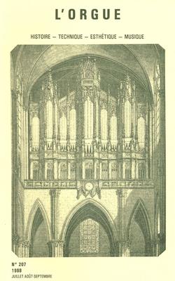 (couverture de Olivier Messiaen: étude de son langage musical à travers l'œuvre d'orgue — L'orgue et la grande presse — Entretien avec André Fleury)
