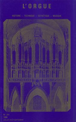 (couverture de Des organistes face à La Marseillaise (III) — Les orgues et les organistes de Tours avant 1789 — Pre-1660 organ material in Great Britain)