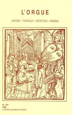 (couverture de J. S. Bach – A. P. F. Boëly: le maître recopié par l'élève — La première édition des trois Livres d'orgue de Jehan Alain — Pierre Cardon, facteur d'orgues)
