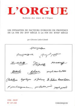 (couverture de Les dynasties de facteurs d'orgues en Provence de la fin du XVIe siècle à la fin du XVIIIe siècle)