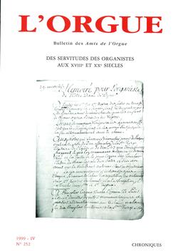 (couverture de Des servitudes des organistes aux XVIIIe et XXe siècles)
