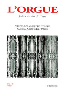 (couverture de Aspects de la musique d'orgue contemporaine en France)