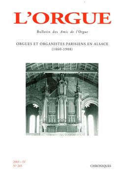 (couverture de Orgues et organistes parisiens en Alsace (1860-1908))
