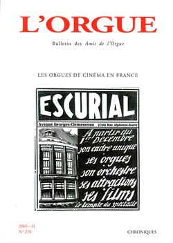 (couverture de Les orgues de cinéma en France)