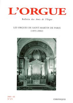 (couverture de Les orgues de Saint-Martin de Paris (1855-2002))
