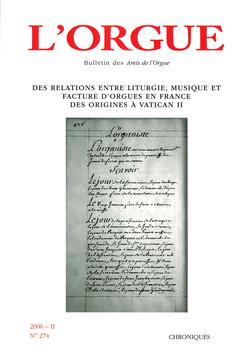 (couverture de Des relations entre liturgie, musique et facture d'orgues en France des origines à Vatican II)