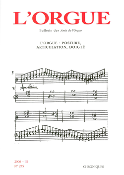 (couverture de L'orgue: posture, articulation, doigté)