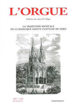 (couverture de La tradition musicale de la basilique Sainte-Clotilde de Paris)