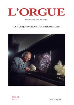(couverture de La musique d'orgue d'Olivier Messiaen)