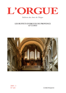 (couverture de Les buffets d'orgues de Provence (1772-1915), par Jean-Michel Sanchez)