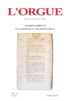 (couverture de Gaspard Corrette et sa messe du 8e ton pour orgue)