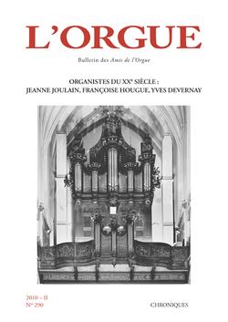 (couverture de Organistes du XXe siècle: Jeanne Joulain, Françoise Hougue, Yves Devernay)