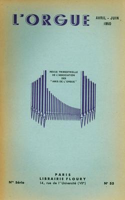 (couverture de Les organistes français d'aujourd'hui, Charles Lebout et Marcel Prevot – Lemmens et Cavaillé-Coll. Publication de lettres – À propos du deuxième centenaire de la mort de J.-S. Bach)