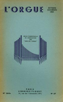 (couverture de Les organistes français d'aujourd'hui, IX: Olivier Messiaen (fin) – Le grand orgue de la cathédrale de Fort-de-France – Les épreuves d'orgue au concours international d'exécution musicale de Genève)