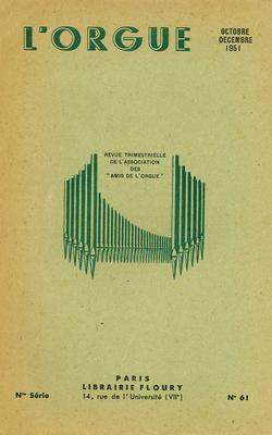 (couverture de Le Congrès d'orgue de la Haute-Souabe – Le grand orgue de Saint-Médard, à Paris – Autour des orgues du Conservatoire national et de la chapelle des Tuileries)