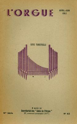 (couverture de Hommage à Bérenger de Miramon Fitz-James – Une enquête des Amis de l'orgue sur le rôle liturgique de l'organiste (suite) – L'orgue de Saint-Jean de Libourne)