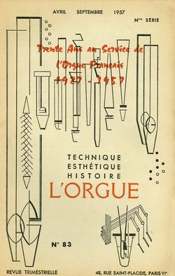 (couverture de Trente ans au service de l'orgue français (1927-1957))