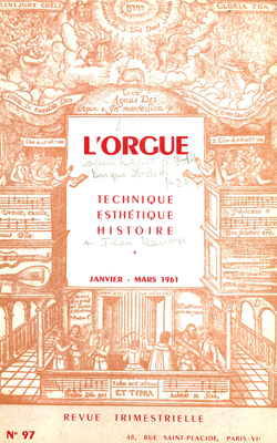 (couverture de Le grand orgue de Saint-Louis des Invalides — Quelques tendances de la facture d'orgues française contemporain — L'orgue contemporain aux Pays-Bas — L'orgue à Istamboul)