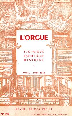 (couverture de Le nouvel orgue de la cathédrale de Zürich — L'œuvre d'orgue de Henry Purcell — Mode et facture d'orgue — L'Orgelprobe de Werkmeister (I))