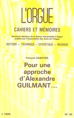 (couverture de Pour une approche d'Alexandre Guilmant…)