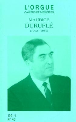 (couverture de Maurice Duruflé (1902-1986))