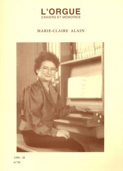 (couverture de Marie-Claire Alain)