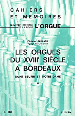 (couverture de Les orgues du xviiie siècle à Bordeaux)
