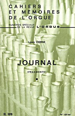 (couverture de «Journal» de Louis Vierne)